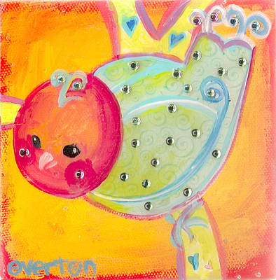 Orange Birdy Poster by Shelley Overton