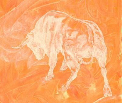 Orange Bull Negative Poster