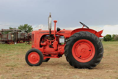 Orange Case Tractor Poster