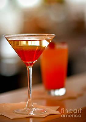 Orange Cocktail Martini Poster