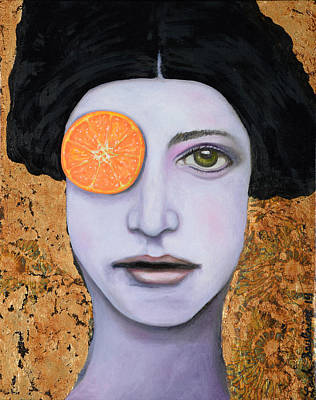 Orange Crush Poster by Leah Saulnier The Painting Maniac