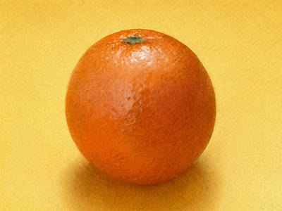 Poster featuring the digital art Orange by David Blank