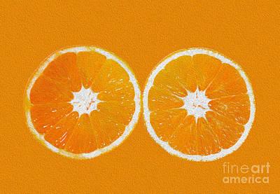 Orange Eyes Poster by Victoria Herrera