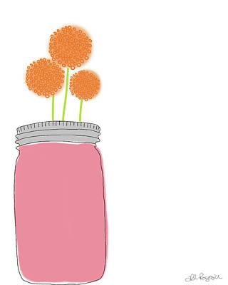 Orange Flowers Poster by Alli Rogosich