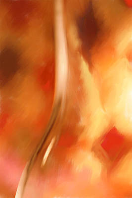 Orange Glass Digital Painting Poster