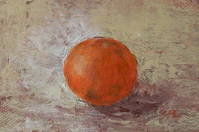 Poster featuring the painting Orange by Jane  See