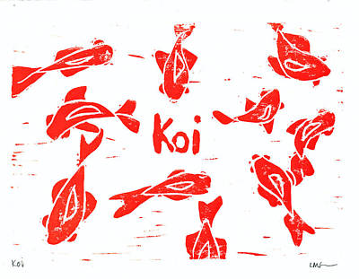 Orange Lazy Koi Poster by Lynn-Marie Gildersleeve