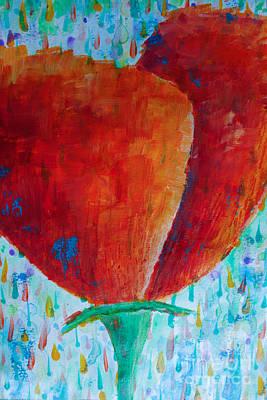 Orange Poppy Poster by Jacqueline Athmann
