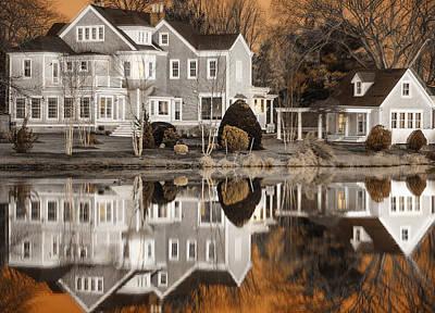 Orange Reflection Poster by Vicki Jauron