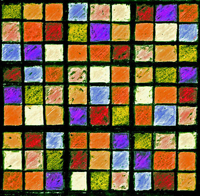 Orange Sudoku Puzzle Poster