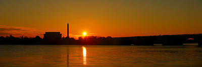 Orange Sunrise Over Dc Poster
