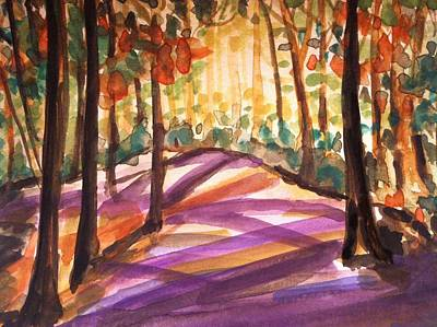 Orange Woods Poster