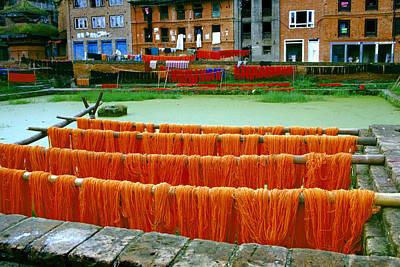 Orange Yarn Poster