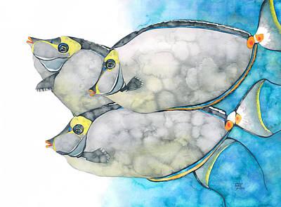 Orangespine Unicornfish Poster
