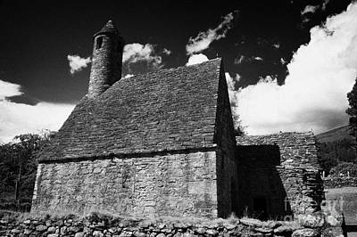 Oratory Known As St Kevins Kitchen At Glendalough Monastic Site Poster by Joe Fox