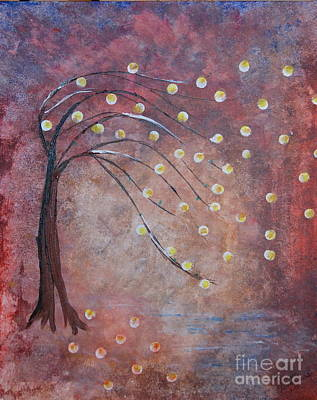 Poster featuring the painting Orb Oak by Denise Tomasura