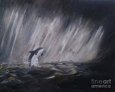 Orca Poster by Isabella F Abbie Shores FRSA