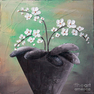 Orchids In Pot Poster by Home Art