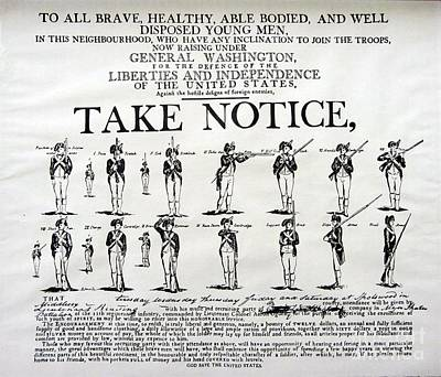 Order Of Battle - Take Notice Brave Men Poster