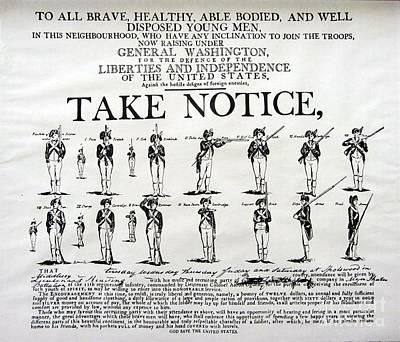 Order Of Battle - Take Notice Brave Men Poster by Susan Carella
