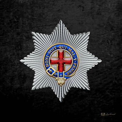 Order Of The Garter Star On Black Velvet Poster