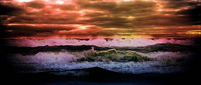 Aaron Berg Photography Poster featuring the photograph Ocean Storm by Aaron Berg