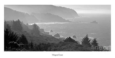 Oregon Coast In Black And White Poster by Twenty Two North Photography