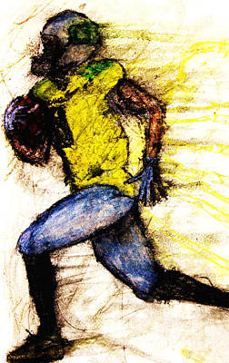 Oregon Football 2 Poster by Michael Cross