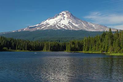 Oregon Mt Hood Rising Above Trillium Poster