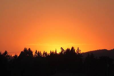 Oregon Sunset Poster by Melanie Lankford Photography