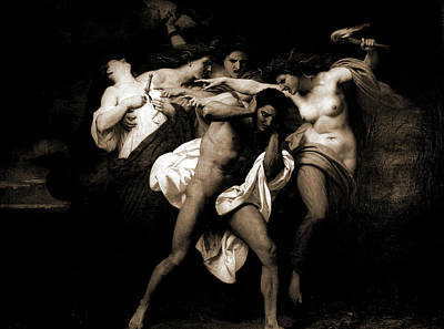 Orestes Pursued By The Furies, 1862, Bouguereau Poster