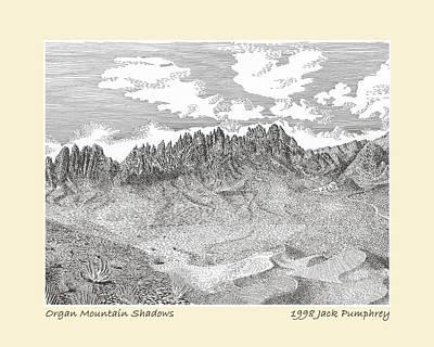 Organ Mountain Shadows Poster by Jack Pumphrey