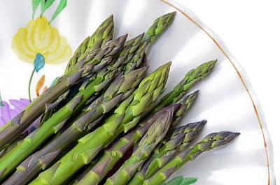 Organic Asparagus Poster by Susan Leggett