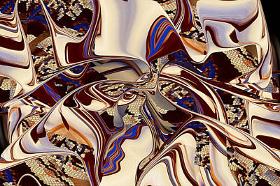 Organic Web - Fine Art Digital Abstract - Rd Poster