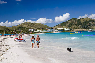 Orient Beach In St Martin Fwi Poster by David Smith