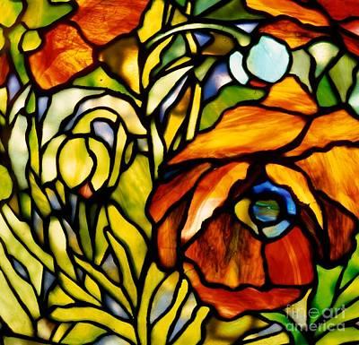 Oriental Poppy Poster by Tiffany Studios