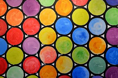 Poster featuring the painting Original Abstract Painting Circles Print ... Watercolor Windows by Amy Giacomelli