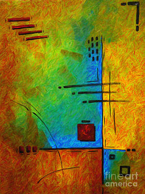 Original Abstract Painting Digital Conversion For Textured Effect Resonating IIi By Madart Poster by Megan Duncanson
