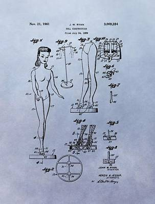 Original Barbie Doll Patent Poster by Dan Sproul