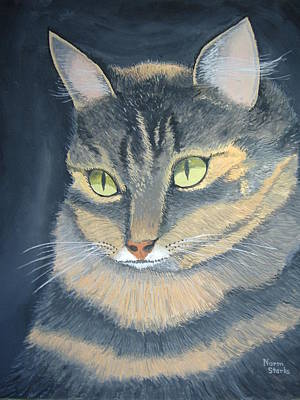 Original Cat Painting Poster