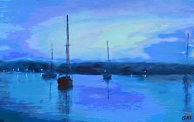 Original Digital Painting Quiet Evening Poster