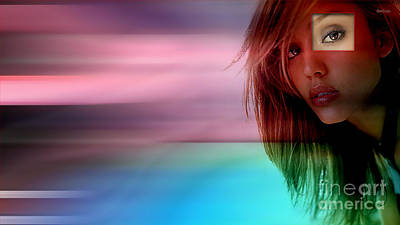 Original Jessica Alba Painting Poster