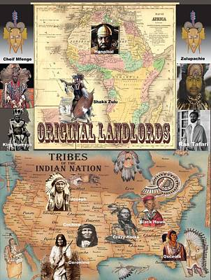 Original Landlords Poster African And Native American Poster by Sirron Kyles