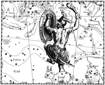 Orion Constellation, Hevelius, 1687 Poster