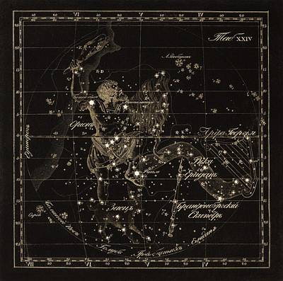 Orion Constellations, 1829 Poster