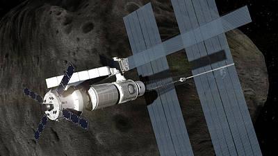 Orion Spacecraft In Orbit Poster