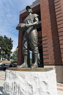Orlando Cepeda Statue At San Francisco Giants Att Park Dsc1196 Poster