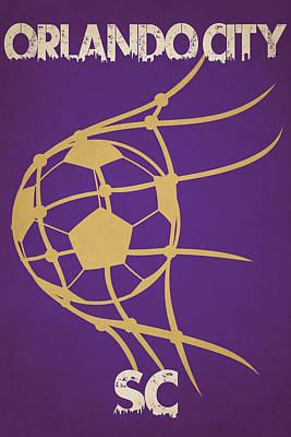 Orlando City Sc Goal Poster by Joe Hamilton