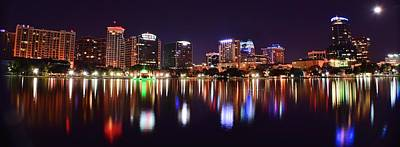 Orlando Over Lake Eola Poster by Frozen in Time Fine Art Photography