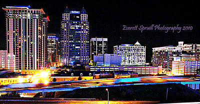Orlando Skyline At Night Poster